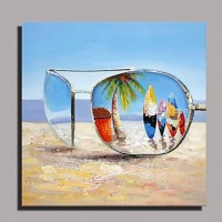 Beach and Boards Oil Painting on Canvas